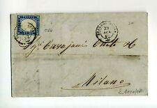 1862 REGNO lettera BERGAMO-MILANO-IV°SARDEGNA c.20-15Dc+AMB.Ferroviario-h481
