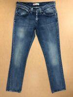 FF915 WOMENS LEVI'S 480 FADED BLUE STRAIGHT FIT DENIM JEANS UK 10 W28-30 L34