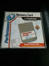 Memory Card Light Gray by Performance Playstation PSOne Console System in Case