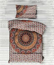 Indian Star Elephant Mandala Printed Bedspread Twin Bed Sheet Cotton Bedding Set