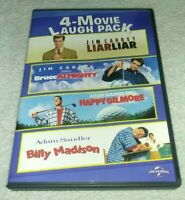 4 Movie Laugh Pack: Liar Liar/Bruce Almighty/Happy Gilmore/Billy Madison (DVD)