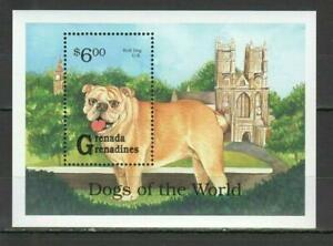 [GR] GRENADA GRENADINES 1993 DOGS, DOMESTIC  ANIMALS. SOUVENIR SHEET.