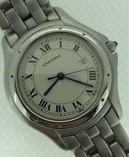 Cartier Panthere Cougar Stainless Steel Quartz White Dial 120 000 R