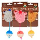 1Pcs Furry Cat Toys Cute Mice Fur Interactive Hollow Out Plastic Ball With Bells