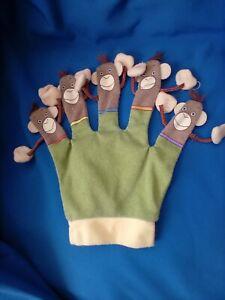 THE PUPPET COMPANY HAND GLOVE PUPPET 5 LITTLE MONKEYS