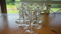 Libbey Cocktail Wine Cordial Glasses 6 4oz faceted stem glasses Elegant stemware