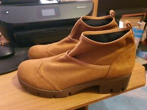 Women's Beauty Girls Fashion Boots Camel Slip On - Size 41 Worn Once