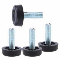 1/4/8pcs M8 Furniture Table Plastic Base Thread Stem Adjustable Leveling Feet