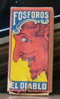 Vintage Matchbook K6 Mid Century Panama Flag South America Diablo Devil Box Face