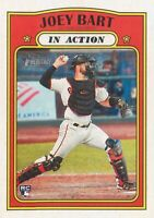 Joey Bart RC 2021 Topps Heritage Baseball In Action Rookie Card #50 SF Giants