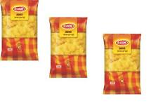 3X Pasta Medium Horns Shape Durum Wheat Kosher Israeli Product by Osem 500g