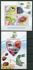 Madagascar 2017 MNH Reef Fish 3v M/S 1v S/S Poissons Fishes Marine Stamps