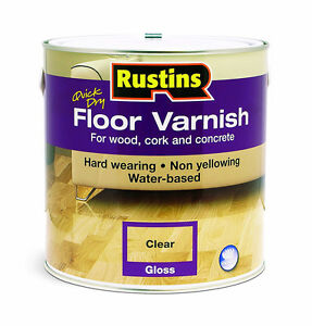 Rustins Quick Dry Floor Varnish Gloss Clear 1 Litre For Wood & Other Hard Floors