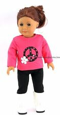 Peace Sign T Shirt + Pant Set 18 in Doll Clothes Fits American Girl