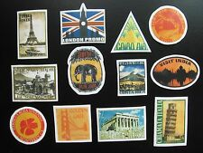 Pier 1 Imports Travel Luggage Labels Stickers London China Paris Greece Italy CA