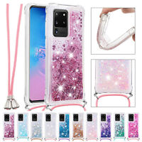 For Samsung Galaxy A11 A21S A51 A71 5G Bling Quicksand Soft Rubber Case Cover