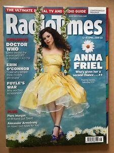 RADIO TIMES 12/04/2008: Anna Friel, Doctor Who, Bear Grylls, Battlestar, HIGNFY