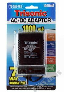 1000mA Transformer Universal AC DC Power Adapter 2 Sony Plug 7 Outputs 110/220V