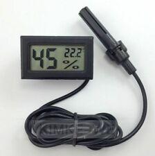 Mini digital LCD temperatura de tuberías humedad higrómetro termómetro con sonda