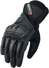 Gants noirs GearX pour motocyclette