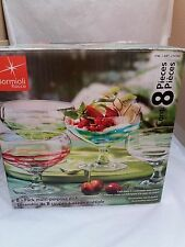Bormioli Rocco  - 8 Piece Multi-Purpose Dish Set - Hand Crafted Glass
