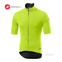 Castelli PERFETTO ROS LIGHT Short Sleeve Wind/Rain Cycling Jersey : YELLOW FLUO