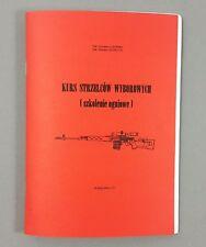 SVD BOOK SNIPER SHOOTER COURSE DRAGUNOV NDM-86 RIGLE 7.62 x 54 POLISH MANUAL