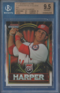 Bryce Harper / 2011 Bowman Chrome Retail Exclusive Red #BCE1R / Graded BGS 9.5