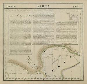 Afrique. Barca #4 Cyrenaica Gulf of Sidra Libya West Crete VANDERMAELEN 1827 map