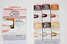 LOT (7) SALLY HANSEN SALON INSTA GEL STARTER MANICURE KIT W/ 6 BOX GEL STRIPS