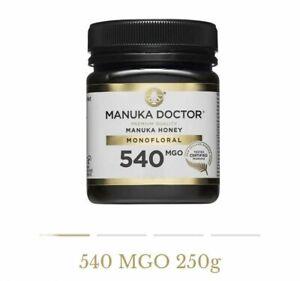 Manuka Doctor 540 MGO Honey MONOFLORAL 250g 100% Pure New Zealand Certified