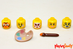 LEGO CITY, 5 Köpfe, Farbpalette, Pinsel, 7 LEGO®-Teile, passt zu Set 60234