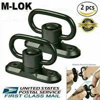 2 kit M-LOK MLOK Quick Release Sling Mount Push Button QD Sling Swivel Adaptor