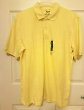 FADED GLORY Men's Short Sleeves Yellow Polo Shirt - medium