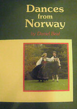 DANCES From NORWAY Daniel Beal SIGNED Ethnic Norwegian Folk Dance Illustrated