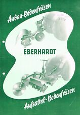 Eberhardt Aufsattel- / Anbau- Bodenfräsen, orig. Prospekt 1954