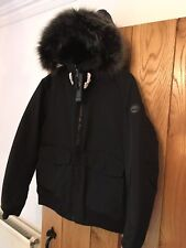 Mens Timberland Waterproof Coat Jacket Parka Black Fur Hood XXXL 3XL
