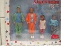 Puppenstube Biegepuppen Familie in Sportkleidung *NEU* 4 Stück Lundby stockholm