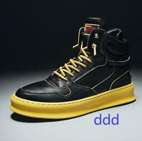 Korean Fashion Mens High Top Board Shoes Lace Up Sneakers Sports Casual Athletic