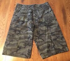 Hurley Commander Camo Camouflage Cargo Casual Shorts Men's Size 28 NWT!