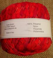 1 Skein Gedifra CUBETTO Yarn Red # 1141 50gr 75m 100% Polyamide Made In Italy