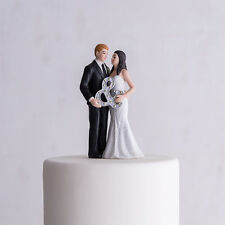 Mr. And Mrs. Couple With Ampersand Fun Wedding Cake Topper