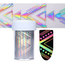Holographic Nail Foil Starry Laser Geometric Nail Art Transfer Sticker Manicure