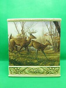 Terry Redlin Ceramic Four Sided Tissue Cover Whitetail Deer