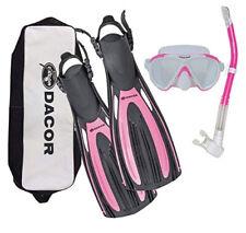Scuba Diving & Snorkeling Package- Dacor Mariner Fins, Mask, Snorkel w/ free bag