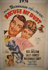 Excuse my Dust Original 1sh Movie Poster '51 R63 Buster Keaton, cool