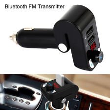 Kit per auto MP3 con trasmettitore radio Bluetooth FM e 2 caricabatterie USB