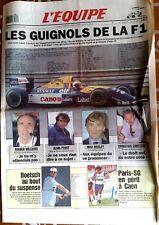 L'Equipe Journal 22/1/1993; L'écurie Williams exclue de la F1/ Boetsch/ PSg-Caen
