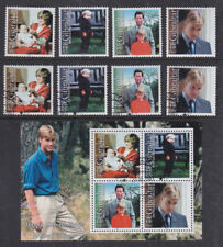 Gibraltar 2000 Mint MNH Used CTO Set Minisheet Prince William 18th Birthday