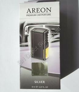 Areon Quality Car Perfume Luxury Air Freshener Long Lasting SILVER 8 ml.
